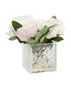 10in Faux Peony Plant