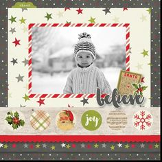 Claus & Co layout be design team member Sue Kendall Pre order now at allscrapbooksteals.com