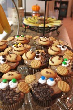 Leesh & Lu's Recipe Box: Chocolate-Banana Monkey Cupcakes