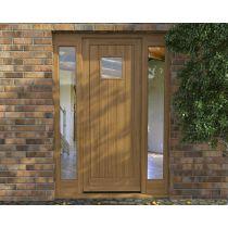 Order Single Entry Doors With Sidelights From TimberMaster LTD   Handmade Wooden  Doors Manufacturer In UK. Get Vertically Glazed Oak Door Set For Your Home
