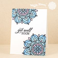 Searchwords: Get Well Soon Lacy Flowers Card by Waffle Flower