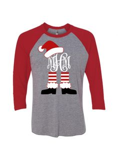 4c7ece2e6 Monogrammed Christmas Shirt Christmas T Shirt Design, Christmas Shirts For  Kids, Christmas Pjs,