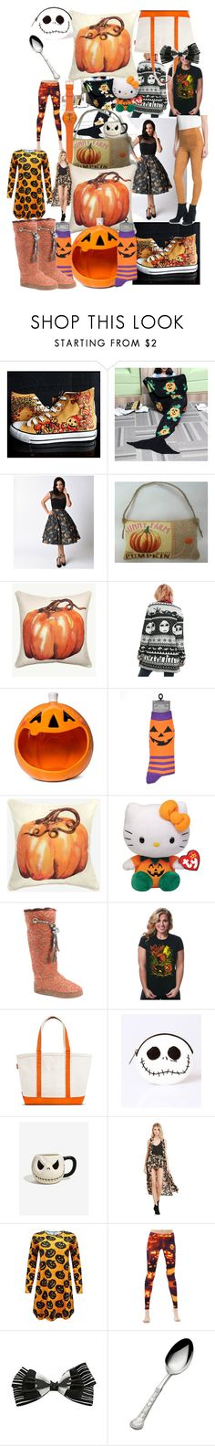 """""""One farm full"""" by lerp ❤ liked on Polyvore featuring HVBAO, Hell Bunny, Grandin Road, Disney, Hello Kitty, Muk Luks, CB Station, BB Dakota, WithChic and Wallace"""