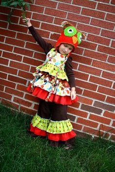 fairytale frocks and lollipops::create kids couture, karas triple ruffle pants, e-pattern, downloable pattern, pdf pattern