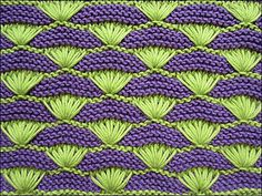 It's a 16-row pattern with no garter stitch border.