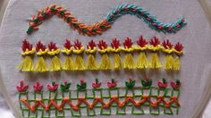 Hand embroidery designs. Hand embroidery stitches tutorial for beginners. - YouTube