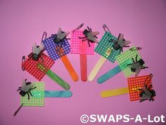Flyswatter-goes with Fly Guy (Ted Arnold) link is broken, but photo is self-explanatory (although I'm not sure WHAT these are used for.... brooches?)