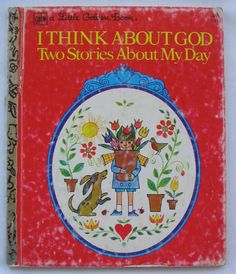 I Think About God Vintage Little Golden Book Two by TheVintageRead, $5.25