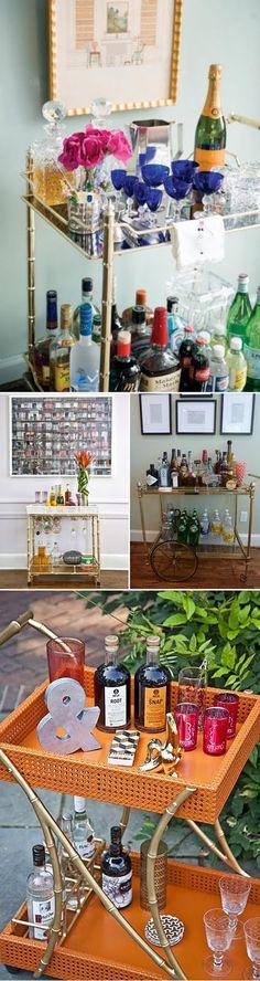 Stylish Living: A Beautiful Bar Cart   The Style Umbrella