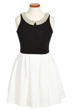 Zoe Ltd Beaded Collar Dress (Big Girls) available at #Nordstrom