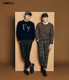 Sehun, Kai - 161103 Hat's On website update Credit: Hat's On. Kai, Exo Couple, Exo Xiumin, Two By Two, Normcore, Pants, Exotic, Website, Couples
