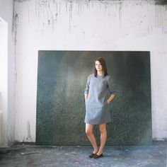 Artist portrait. Photography Katarina K Photography Art direction Paulina Vinter Paintings & Author: Soňa Patúcová Clothes: me&m