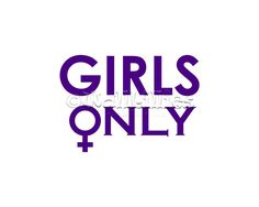 Girls Only with Female Symbol Wall Decal - purple wall decal, home decor decorative wall stickers in over 50 colors for all areas of the home, living room, boy's room, family room, office, kitchen, bedroom, children's room, girl's room, playroom, game room. recreation room and other areas of the home, fall and other decorative wall decals. Wall decals can be an affordable way to decorate your home!