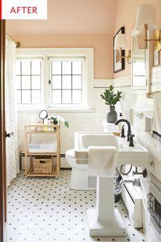 Affordable Bathroom Renovation Ideas Follow Save Archiparti For Toilet Organisation Storage Vintage Bathroom White Wainscoting Bathroom Interior Design