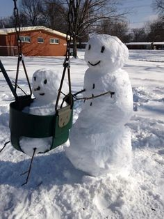 photos of real snowman made of snow to pin on pinterest   Do You Wanna Build A…