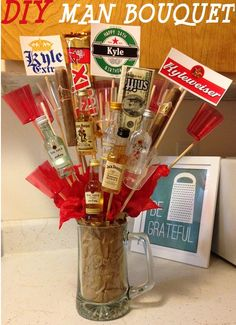 valentine's day beer bouquet