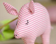 Jouet peluche cochon, jouet en peluche cochon, tissu animal, jouet cochon, cochon peluche