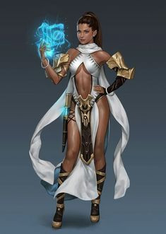 """"""" """" """" sosolo: """"by Seok Jeon """" The last one has Ariana Grande's face down to the hairstyle. """" After Final Fantasy Brave Exvius Ariana's inner. Arte Digital Fantasy, 3d Fantasy, Fantasy Warrior, Fantasy Women, Medieval Fantasy, Fantasy Girl, Fantasy Artwork, Female Character Concept, Fantasy Character Design"""