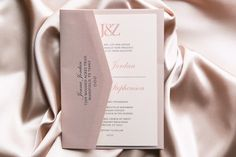 Romantic Dusty Rose & Grey Thermography Wedding Invitation Suite - WeddingLovely Blog