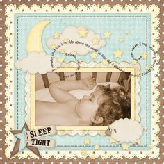 Sleep Tight - love the curled words, the borders, the colors.
