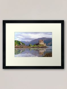 """Eilean Donan Castle Framed Art Print by goldyart Outlander Gifts, Outlander Tv, Eilean Donan, Fort William, Off Colour, Box Frames, Office Ideas, Framed Art Prints, Print Design"
