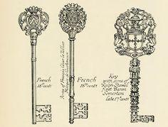 Vintage Ephemera: French Skeleton Keys