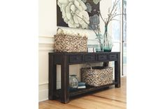 Black Gavelston Sofa/Console Table View 1