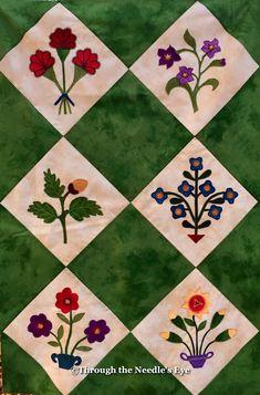 Mini Margaret Potts quilt top. Telling Stories Through the Needle's Eye: A Potts Palooza—Part One