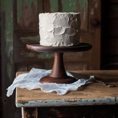 Walnut Cake Stand by CattailsWoodwork