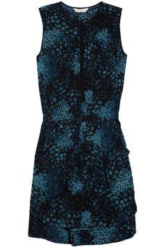 Rebecca Taylor|Printed silk dress|NET-A-PORTER.COM