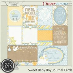 This is a set of 10 Journal and Pocket Scrapbooking Cards in PNG format and 300 dpi made to coordinate with the Sweet Baby Boy Digital Scrapbook Cards. There are 2 Cards and 8 Cards included in this set. Pocket Scrapbooking, Digital Scrapbooking, Baby Scrapbook, Scrapbook Cards, Birthday Wishes Boy, Baby Journal, Journal Cards, Pattern Paper, Word Art