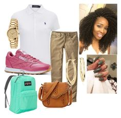 """School"" by amourdc on Polyvore featuring Polo Ralph Lauren, Patagonia, Reebok, JanSport, Gucci and Blue Nile"