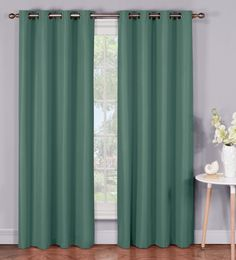 Emma Microfiber Room Darkening Extra Wide Grommet Curtain Panels