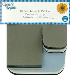 Dritz(R) Assorted Iron-On Twill Patches-16/Pkg