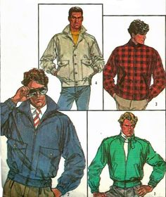 1980s Simplicity 7358 Connoisseur Collection Mens Lined Jackets by mbchills