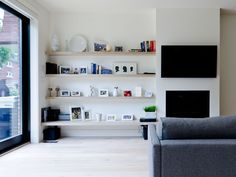 integrated shelving