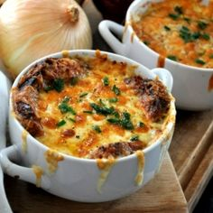Beer & Balsamic French Onion Soup