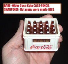 RARE Unusual Coca Cola Coke bottle case PENCIL SHARPENER NICE Free usa postage