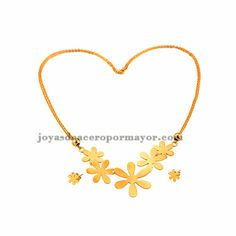 juego de mnoda de collar y pendiente en color oro dorado de acero quirurgico -SSNEG071649