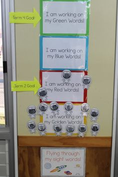sight word goal setting in kindergarten / prep
