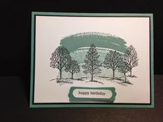Lovely As A Tree, Work of Art, Masculine Birthday Card, Stampin' Up!, Rubber Stamping, Handmade Cards