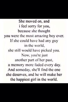 She moved on
