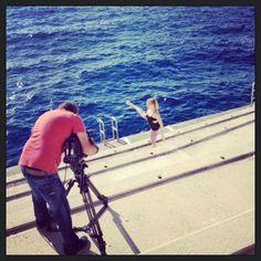 Tournage d'une petite rubrique fitness pour la tv ce matin à Monaco. La suite très bientôt...