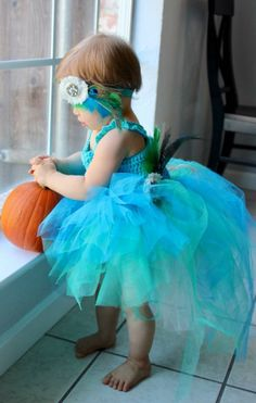 Peacock Costume, High Low Tutu, Blue Tutu Dress, Girl's Halloween Costume, Baby Halloween, Crochet Tutu Dress, Blue & Green Tutu, Party by LittleBayBlueDesigns on Etsy