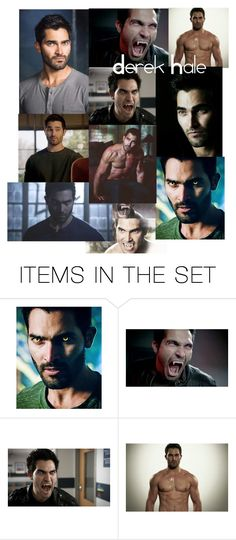 """""""Derek Hale • Teen wolf"""" by pollyesmeyates ❤ liked on Polyvore featuring art"""