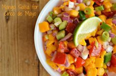 Mango salsa recipe - perfect for Cinco de Mayo
