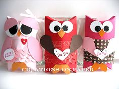 Creations on Paper: Pillow Box Owls