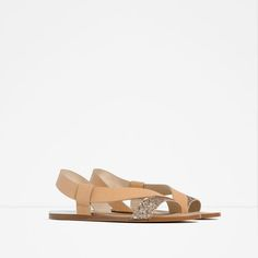 Image 2 of FLAT SPARKLE SANDALS from Zara
