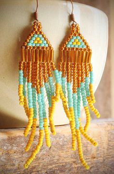 native american navajo style seed bead chandelier by valbdesigns