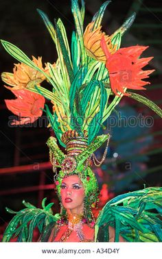 Dancer Performing At La Tropicana Nightclub, Havana, Cuba Stock Photo, Picture And Royalty Free Image. Pic. 10666826